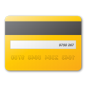 yellow, credit, card Gold icon