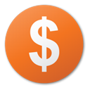 red, funding, round, Currency, Dollar, investment Chocolate icon