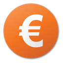 red, Euro, Currency Chocolate icon