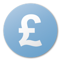 pound, Blue, Currency SkyBlue icon