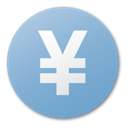 Currency, Blue, yuan SkyBlue icon