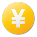 Currency, yuan, yellow Gold icon