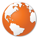 global, globe, earth, international, planet, Browser, internet, world, Orange Chocolate icon