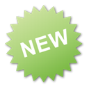 new, green, Label Icon