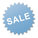 sale, Blue, burst, Label SkyBlue icon