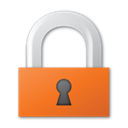 Lock, red Black icon