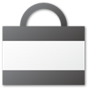 shopping, Bag DimGray icon