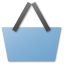 shopping, Blue, Basket SkyBlue icon