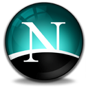 Browser, Netscape, Navigator Black icon