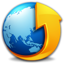 Browser, earth Black icon