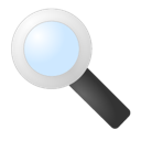 magnifying glass, Find, search, zoom Black icon
