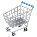 256x256, shopcart Black icon