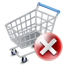 shopping cart Gray icon