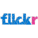 flickr, med DodgerBlue icon