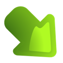 Arrow, green, Down, right OliveDrab icon
