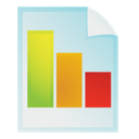 File, chart, Bar, document, graph, report PowderBlue icon