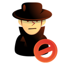 intruder, thief, user, Hacker, killer Black icon