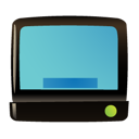 Tv, screen, television, monitor MediumTurquoise icon