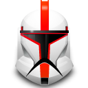 star wars, Clone, helmet Gainsboro icon