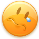 sad, smiley, Face Khaki icon