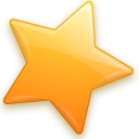star, bookmark Black icon
