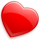 Heart, love, bookmark, glossy, Favourite Red icon