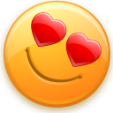 smiley, love, valentine's day DarkOrange icon