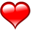 bookmark, love, Heart Red icon