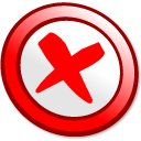 button, cance Red icon