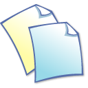 Duplicate, papers, files, Note, Copy, documents Black icon
