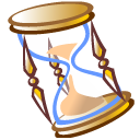 time, history, Hourglass Black icon