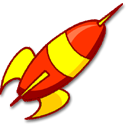Launch, Rocket Black icon