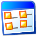view, Multicolumn LightCyan icon