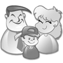 grey, Users, Family Gainsboro icon