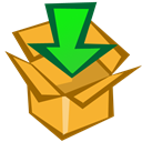 Box, download, Arrow, Down Goldenrod icon