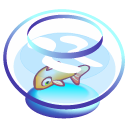 Bowl, fish PaleTurquoise icon
