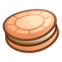 cake, food, cookie SaddleBrown icon