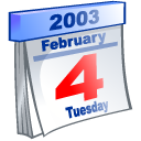 event, Calendar, date, 2003, february Lavender icon