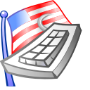 Keyboard, flag DimGray icon
