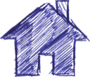 Home, house SlateBlue icon