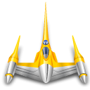 Naboo, star wars, starfighter Black icon