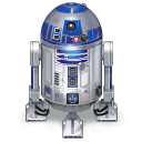 star wars, droid, R2d2, robot DarkGray icon