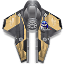 wan, Obi, starfighter DarkSlateGray icon
