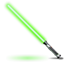 light saber, green, star wars LawnGreen icon