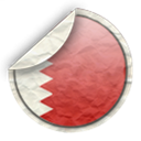 Bahrain, flag Black icon