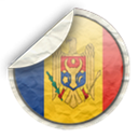 Drapel, moldova, flag, Md Black icon