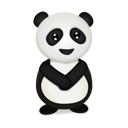 Animal, bear, panda Black icon