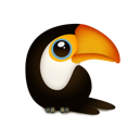 Animal, bird, toucan, zoo Black icon