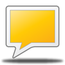 rect, talk, Comment, Chat Gold icon