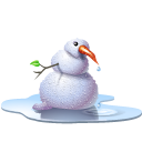 pool, snowman, winter Black icon